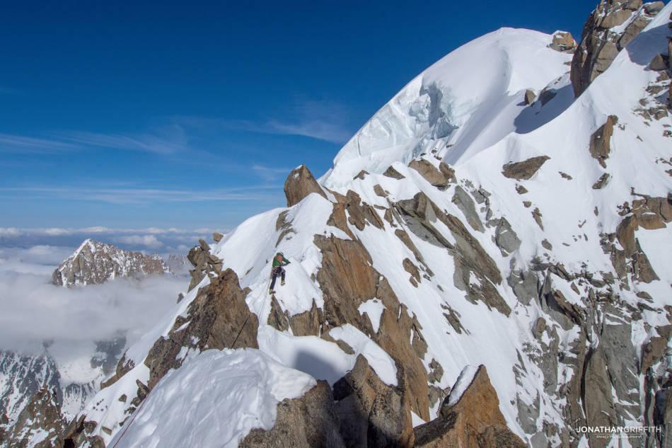 Sans Nom Ridge and the Aiguille Verte