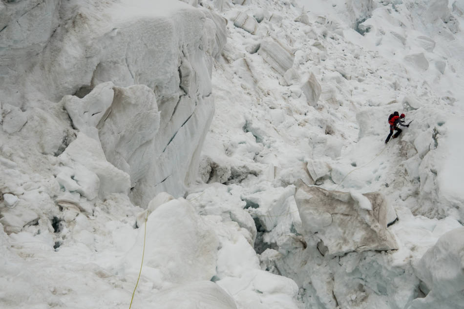 Part of the icefall