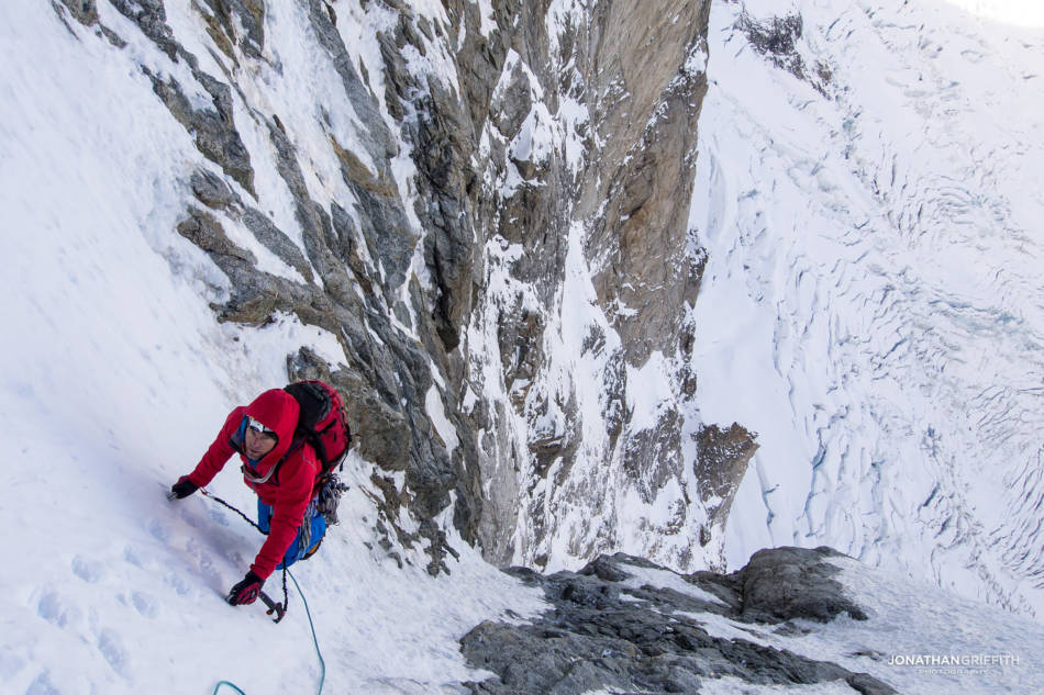 Exiting the Japanese Couloir