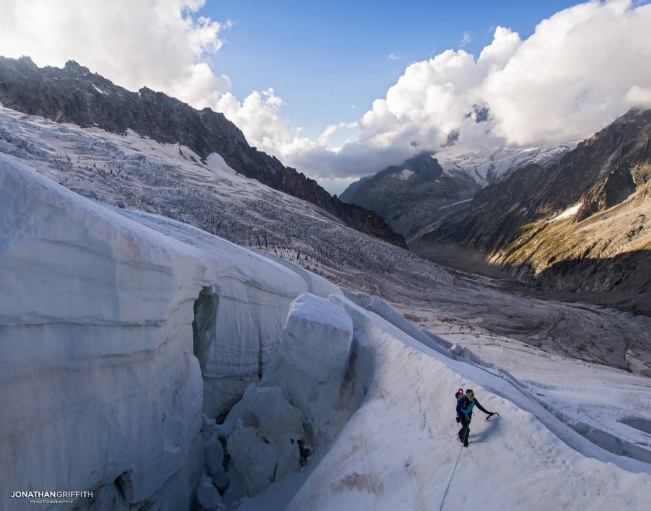 On the approach to the Grandes Jorasses