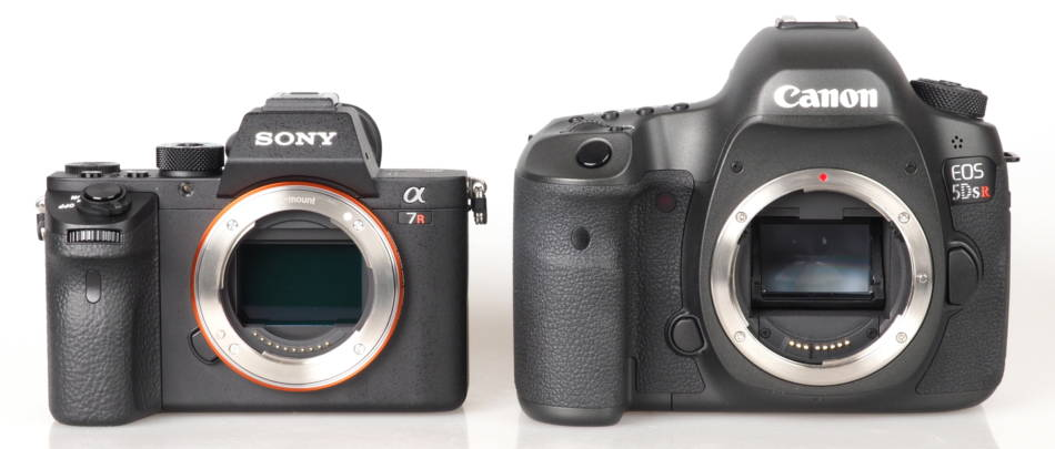 A Sony A7 next to a Canon 5D, © www.ephotozine.com