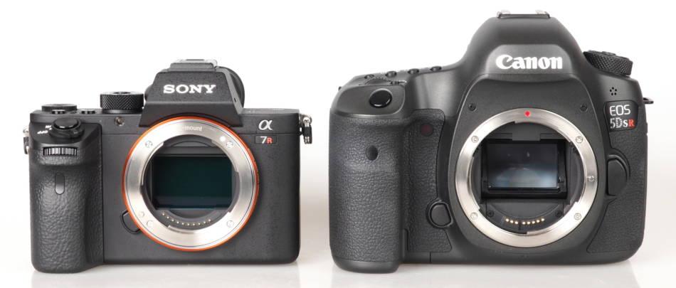 A Sony A7 next to a Canon 5D, © www.ephotozine.com
