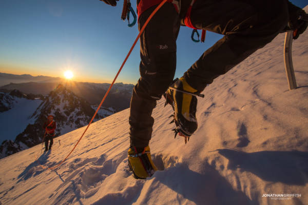 Sunrise on the Chardonnet