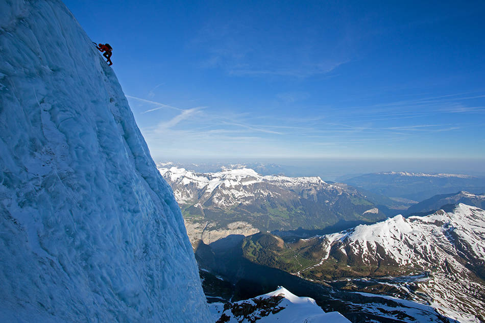 Ueli Steck soloing the Monch N Face